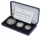 1996 3 x Coin Silver Proof Family Collection